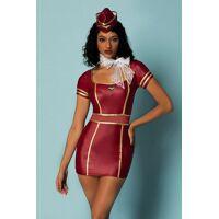 Vermomming - Flight attendant - 4 stuks