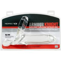 Transparente holle strap-on S/M - Armour Knight