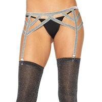 Lurex elastic garter belt 8887