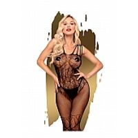 Dirty mind - Net bodystocking with flower lace and bow