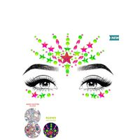 Vibe Neon Face jewels sticker