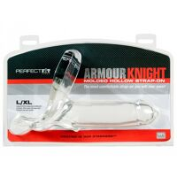 Transparante holle strap-on L/XL - Armour Knight