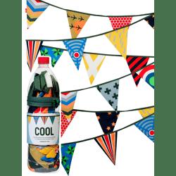 Stoffen vlaggenslinger 'Cool' Large / Engel