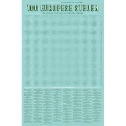 XL Spelposter 100 Europese steden / Uitgeverij Stratier