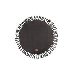 Rond kussen met kwastjes grafietgrijs 45 cm / Zusss