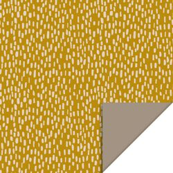 Rol inpakpapier sparkles yellow-taupe