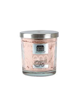 Fragrance candle Glass w. metal lid Palm Oil Rose