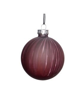 Christmas ball, white/beige/purple