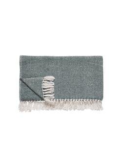 Plaid, cotton, green/offwhite