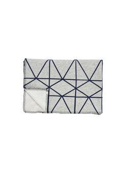 Plaid cotton/fleece w/pattern 130x200