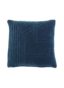 Cushion w/filler, velour, green
