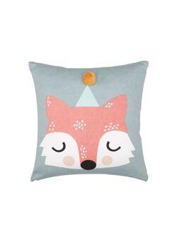 Cushion Frida fox teal