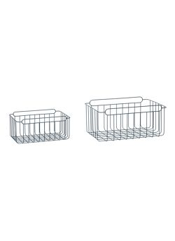 Basket, square, metal, blue, s/2