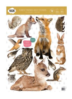 Forest Friends (set of 12 wall stickers)