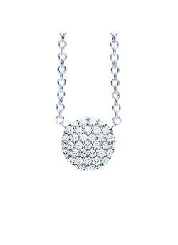 Eolo halsketting wit goud met diamanten
