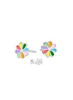 Orage Kids Zilveren oorbellen bloem