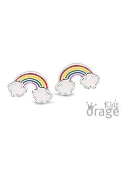 Oorbellen regenboog met wolk