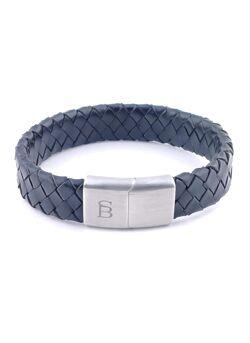 Steel & Barnett - Heren armband mat zwart