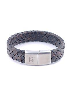 Steel & Barnett - Heren armband vintage bruin
