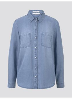 denim tencel blouse