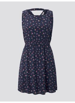 printed dress with back strap
