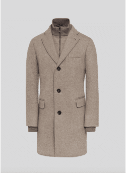 Wool and cashmere carcoat