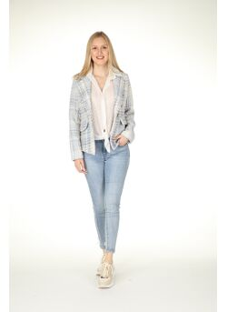 Blazer channel-look geruit
