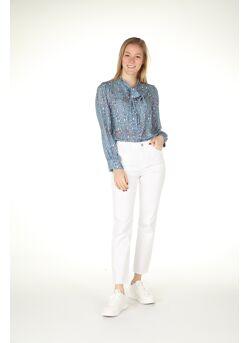 Jeans broek gerafeld