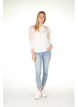 Jeans broek Perle strik