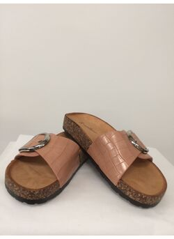 Slipper bcl-chrome fcuir/croco                        L-1075