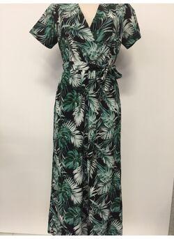 Lange jurk cache coeur palmier