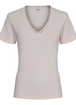 Gustav - V-neck Top - White