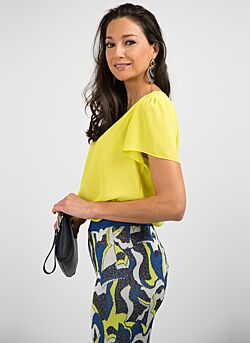 Nenette - Blouse Flaminia Short Sleeves - Yellow