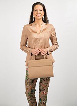Gustav - Blouse Long Sleeves - Camel