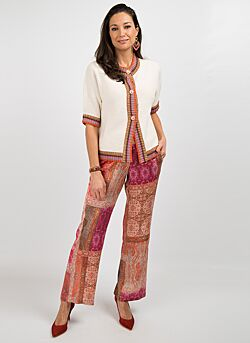 Gustav - Wide Leg Pants Print - Multicolour