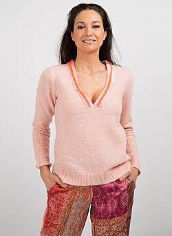 Gustav - V-neck Knit - Pink