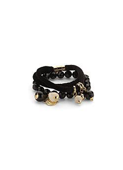 Due Amanti - Bracelet Erbil - Black
