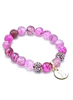 Les Blondinettes - Agaat Roze - How Deep Is Your Love - Armband - Pure