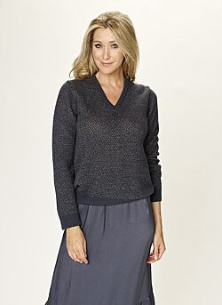 Due Amanti - Sweater Lurex Pia - Greyblue