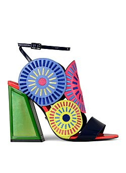 Kat Maconie - Frida Leder Glitch Multicolour