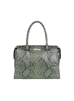 Rosemunde - Bag Medium - Black Green Python Print