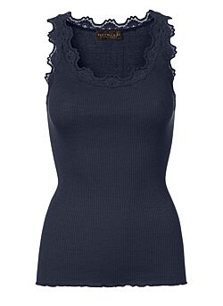 Rosemunde - Silk Top Regular - Navy