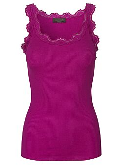 Rosemunde - Silk Top Regular - Fuchsia