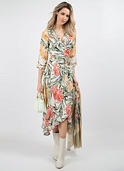 Yess - Jurk Grachelle - Print Tropical Green