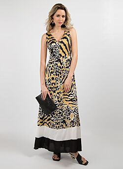 Relish - Long Dress Scioltix - Leopard