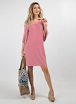 Relish - Short Dress Stypid - Stripes Print