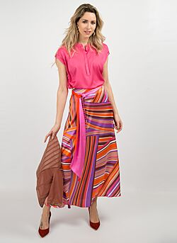 Nenette - Maxiskirt Godiva Print - Pink