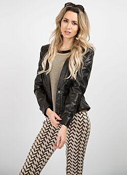 Nenette - Jacket Eco Leather Nella - Black