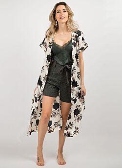 Rosemunde - Kimono Bloemenprint - Wit