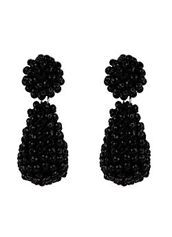 Club Manhattan - Earrings Disco Eardrops - Black